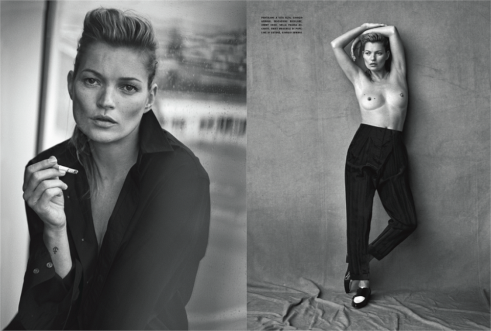Kate Moss Peter Lindbergh Vogue Italia 6